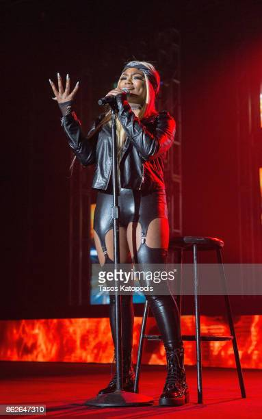 Summerella preforms at the #Youtube Black FanFest at Crampton Auditorium at Howard University on October 17 2017 in Washington DC