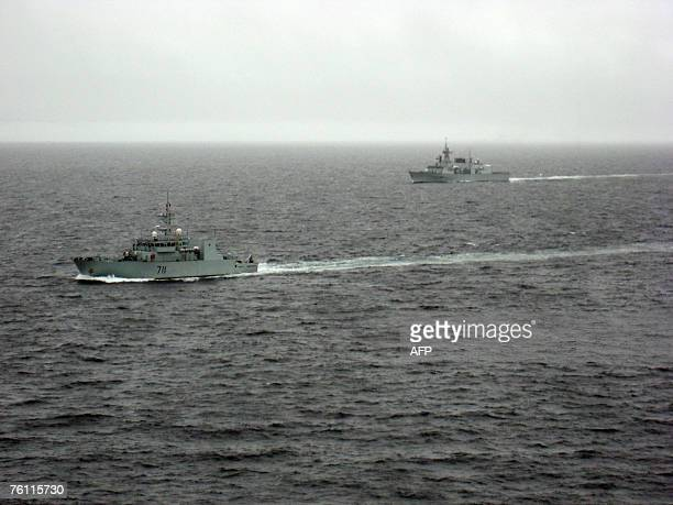 Summerside and HMCS Fredericton patrol the Arctic 11 August 2007 as part of Operation Nanook Canada's largest ever military exercise to assert...