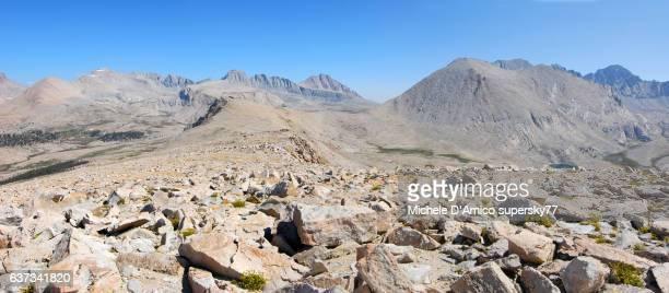 A summit blockfield in the High Sierra