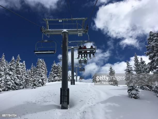 Summit County, Colorado - Backside Ski Lift at Arapahoe Basin Ski Resort on a Powder Day