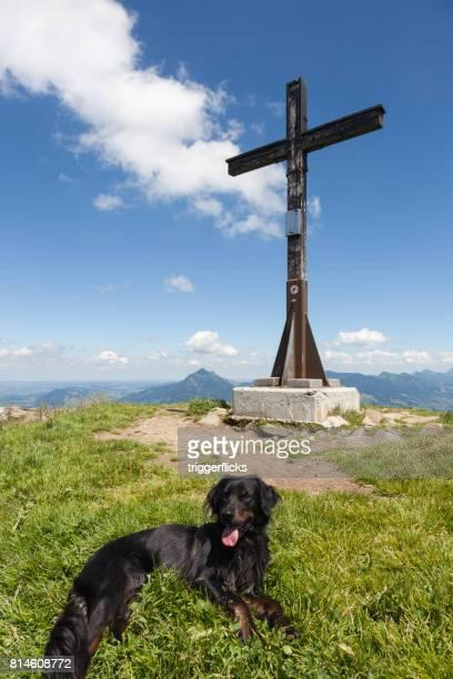 Summit cross in the Bavarian Alps