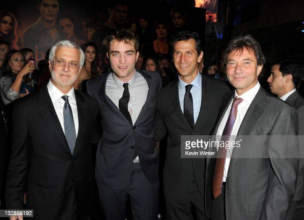 Summit Entertainment CoChairman Rob Friedman actor Robert Pattinson Summit Entertainment President of Worldwide Production and Acquisitions Erik Feig...