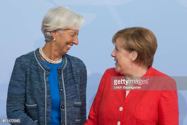 G20 summit in Hamburg Christine Lagarde Managing Director of the International Monetary Fund and Federal Chancellor Angela Merkel