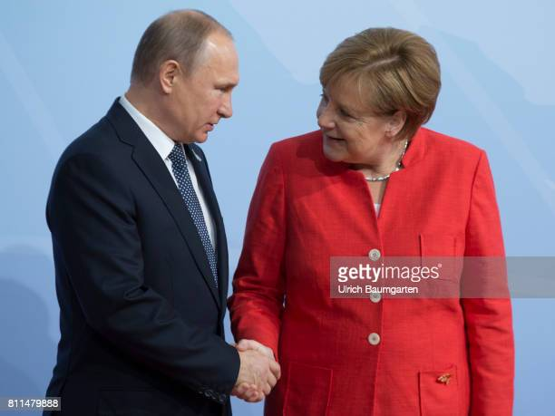 G20 summit in Hamburg Federal Chancellor Angela Merkel and Wladimir Putin President of the Russian Federation