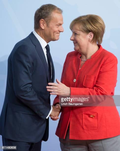 G20 summit in Hamburg Federal ChancellorAngela Merkel and Donald Tusk President of the European Council