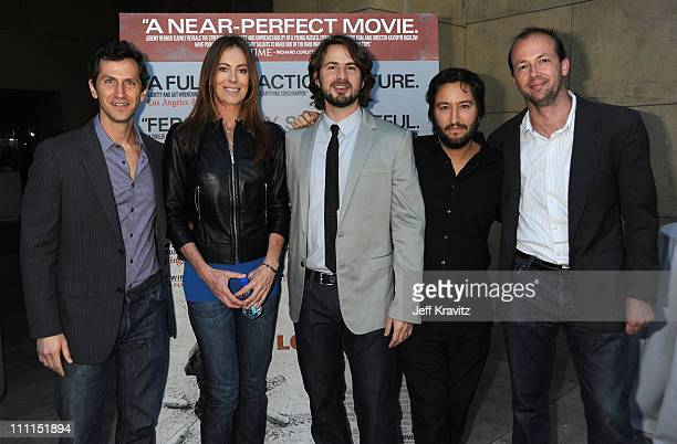 Summit President of Production Erik Feig Director Kathryn Bigelow Writer Mark Boal Producer Greg Shapiro and producer Nicolas Chartier arrive at...