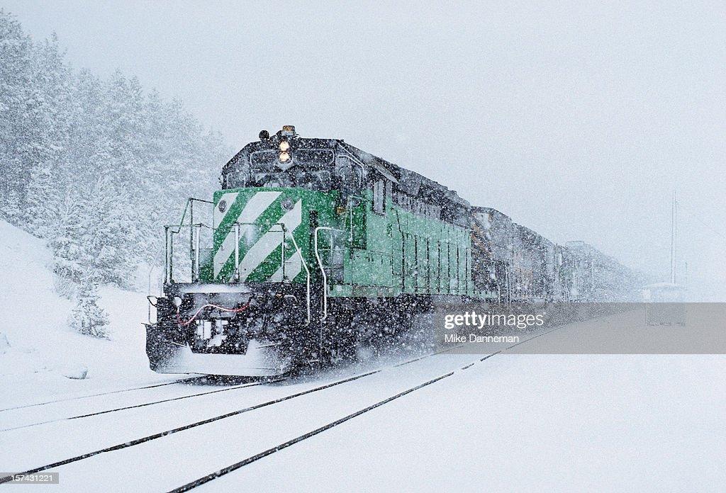 Summit snowstorm : Stock Photo