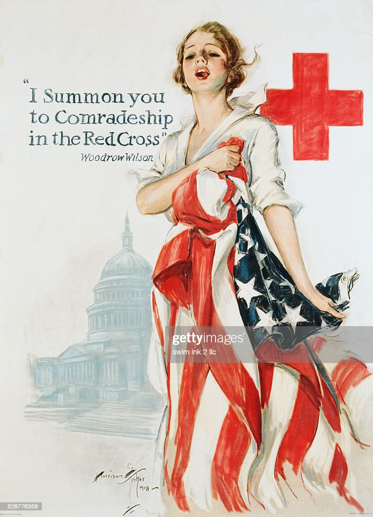 I Summon You to Comradeship in the Red Cross Poster by Harrison Fisher