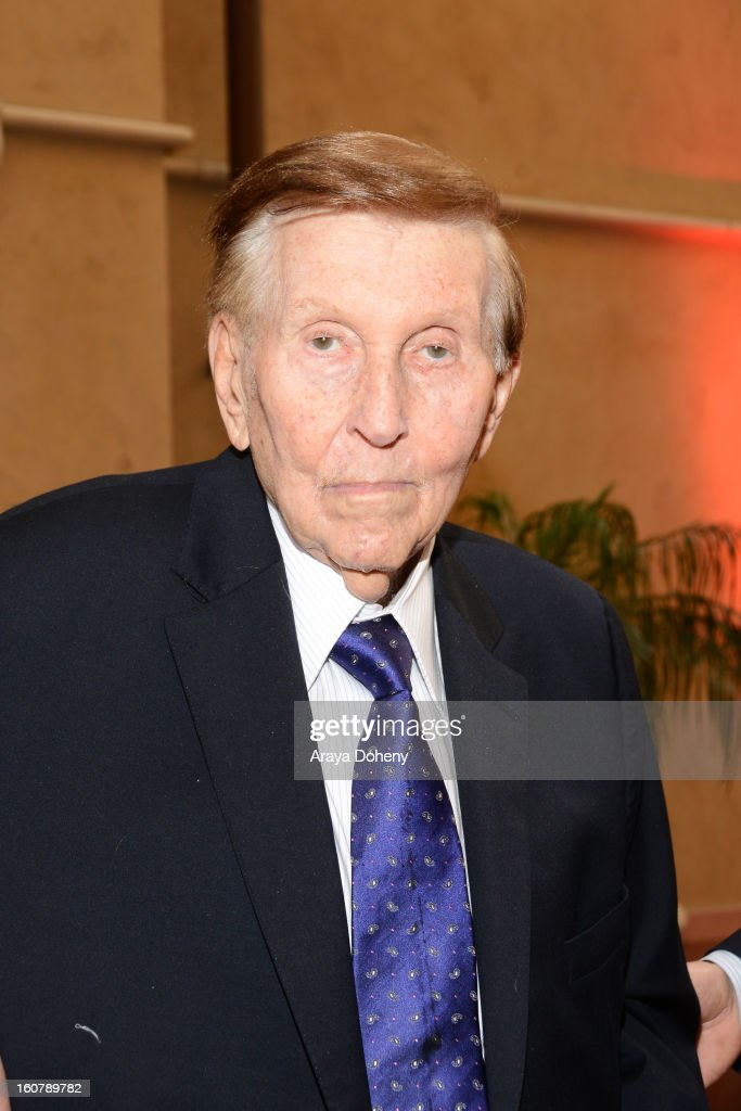 Sumner M. Redstone attends the dedication of the Sumner M. Redstone Production Building at USC on February 5, 2013 in Los Angeles, California.