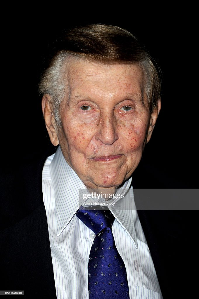<a gi-track='captionPersonalityLinkClicked' href=/galleries/search?phrase=Sumner+Redstone&family=editorial&specificpeople=213192 ng-click='$event.stopPropagation()'>Sumner Redstone</a> attends UCLA Institute Of The Environment And Sustainability's 2nd Annual 'An Evening Of Environmental Excellence' - Arrivals on March 5, 2013 in Beverly Hills, California.