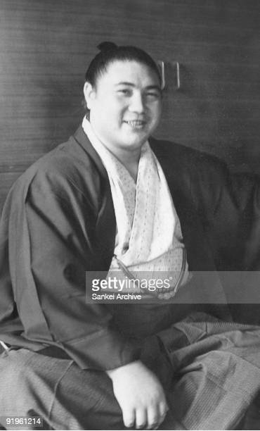 Sumo grand champion Taiho is seen in September 1966 in Japan