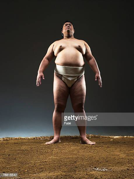 Sumo Wrestler in Ring