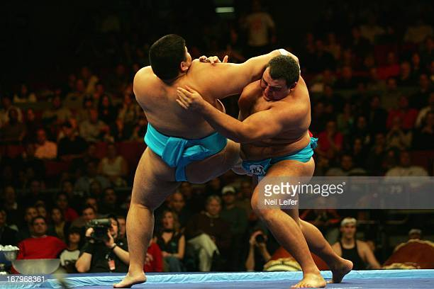 SUMO Battle of the Giants Bulgaria Petar Stoyanov in action during match at Madison Square Garden New York NY CREDIT Neil Leifer