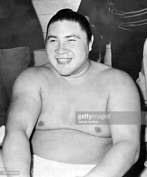 Sumo Yokozuna grand champion Taiho whose real name is Koki Naya is seen in 1969 in Japan