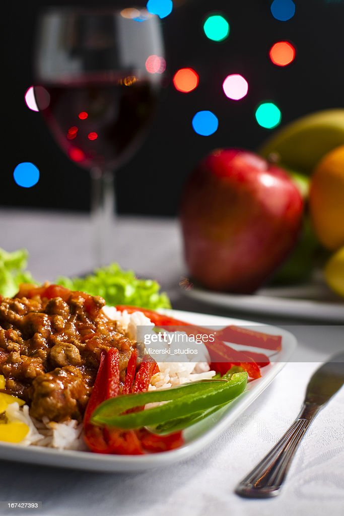 Sumptuous dinner. : Stock Photo