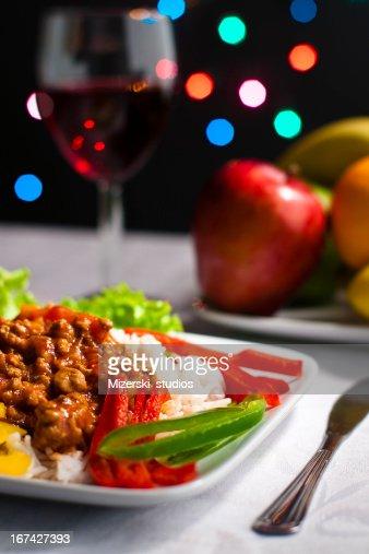 Sumptuosas jantar. : Foto de stock
