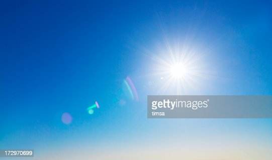Sun and lens flare background