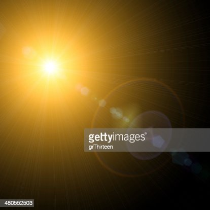 Sol sobre un fondo negro. : Foto de stock
