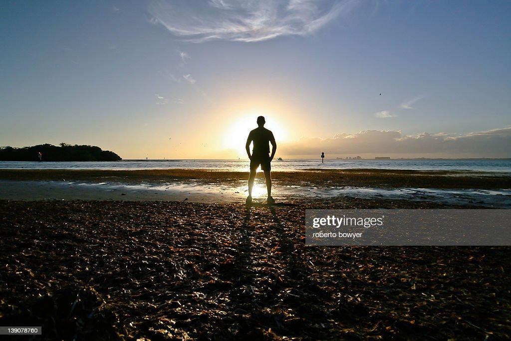 Sun beach person