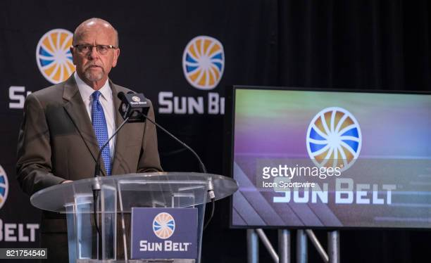 Sun Belt Commissioner Karl Benson gives the State of the Conference during the Sun Belt Media Day on July 24 2017 at the MercedesBenz Superdome on