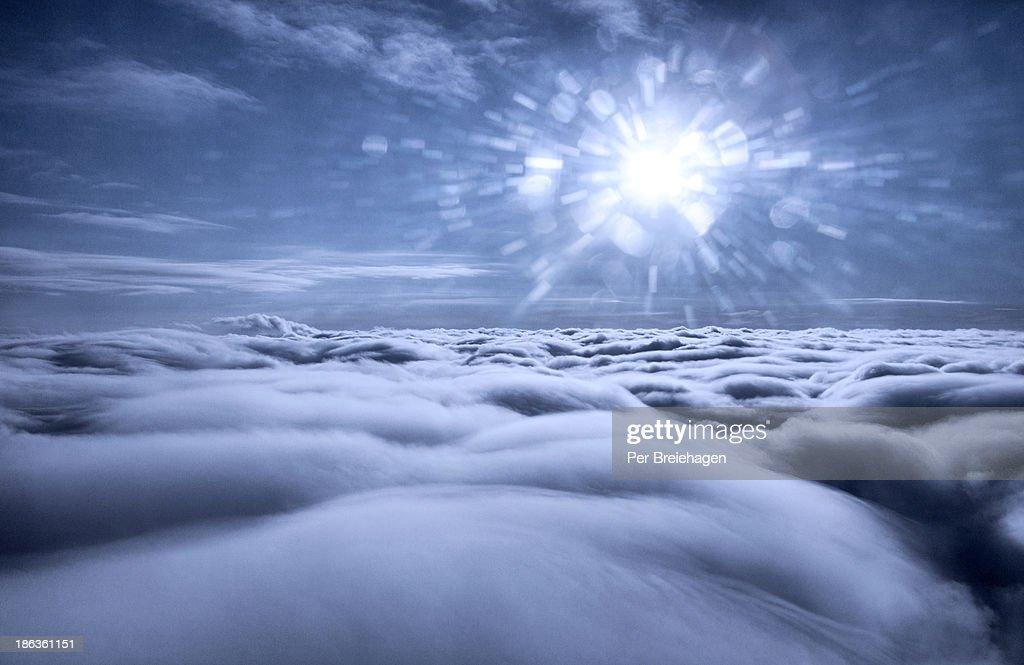 Sun burst over the clouds