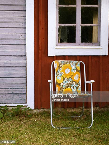 Sun chair in front of shed, Oland, Sweden