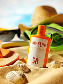 Sun Cream in the Sand