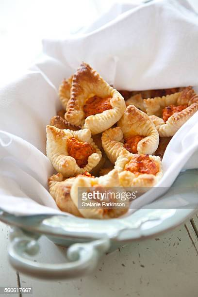 Sun dried tomato puffed pastry