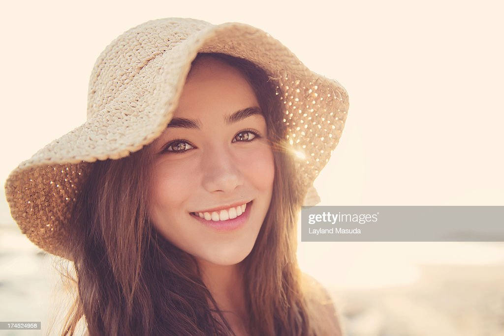 Sun Flare Smile - Teen Girl : Stock Photo
