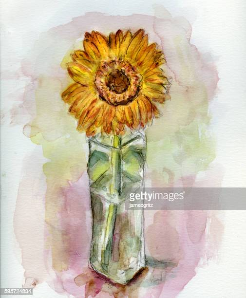 Sun Flower and Vase