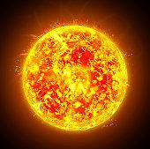 Sun in the imagination.