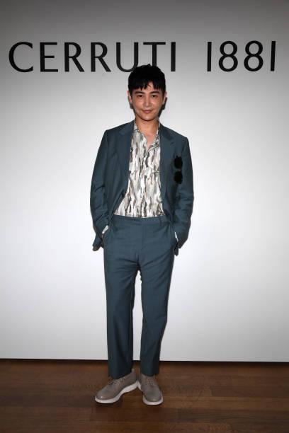 d40c83d0dd35 Sun Jian attends the Cerruti Menswear Spring Summer 2018 show as part of Paris  Fashion