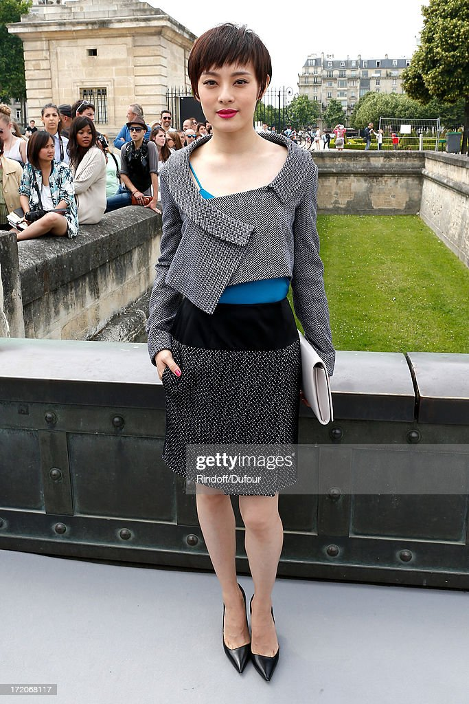 Sun Li arriving at the Christian Dior show as part of Paris Fashion Week Haute-Couture Fall/Winter 2013-2014 at on July 1, 2013 in Paris, France.
