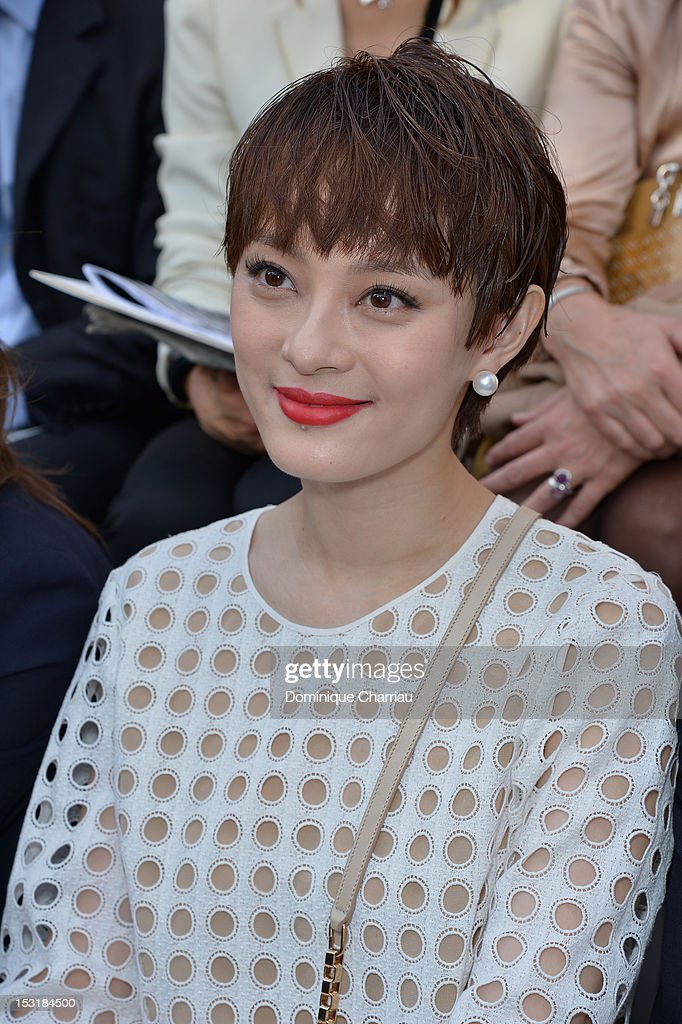 Sun Li attends the Chloe Spring / Summer 2013 show as part of Paris Fashion Week at Espace Ephemere Tuileries on October 1, 2012 in Paris, France.