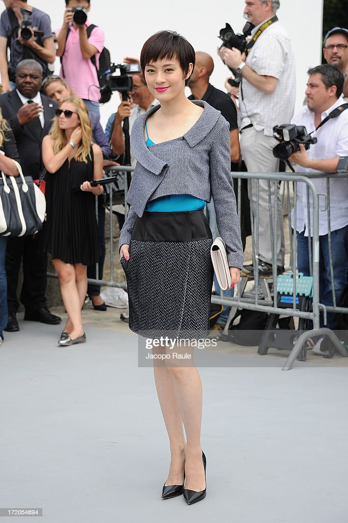 Sun Li attends the Christian Dior show as part of Paris Fashion Week Haute Couture Fall/Winter 2013-2014 at on July 1, 2013 in Paris, France.