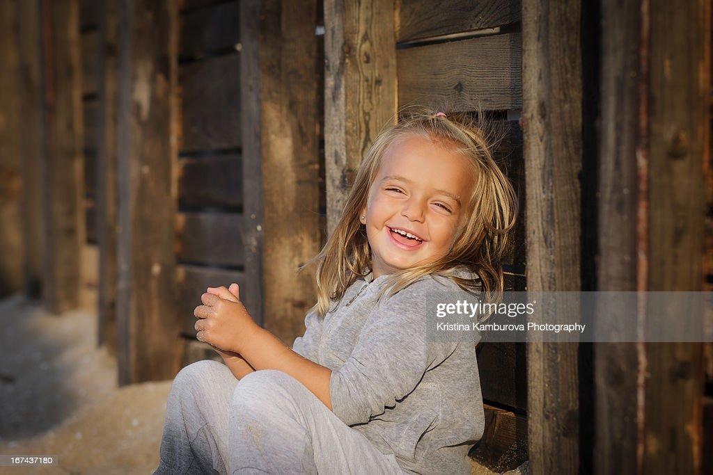 Sun light laughter : Stock Photo