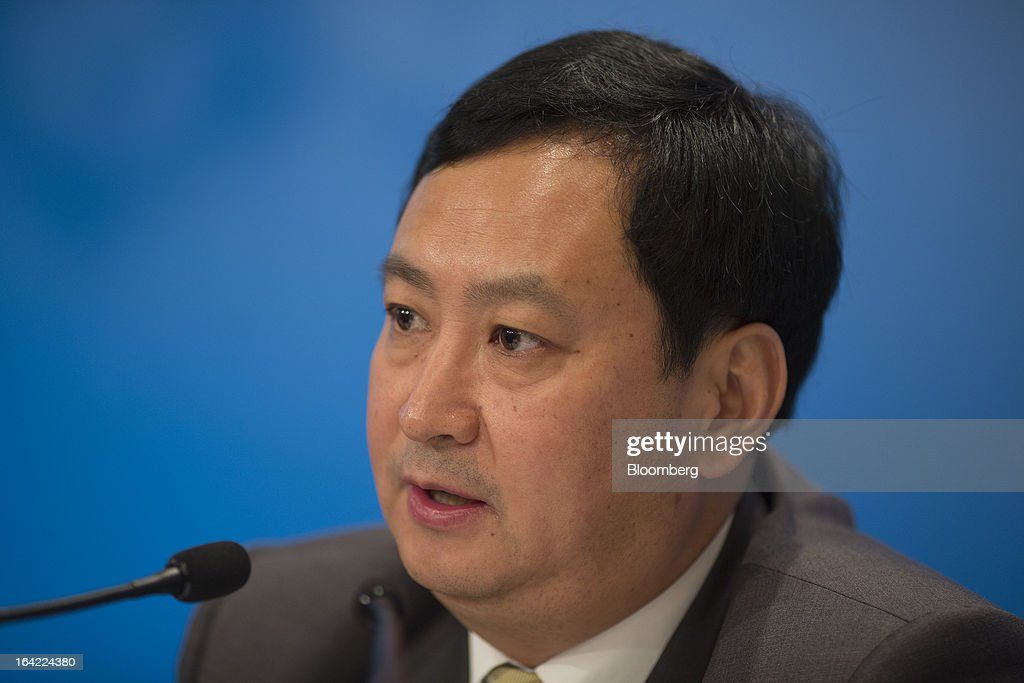 Sun Longde, vice president at Petrochina Co., speaks during the company's annual results news conference in Hong Kong, China, on Thursday, March 21, 2013. Petrochina, the country's biggest oil and natural gas producer, posted full-year profit that missed analysts' estimates as refining losses and import costs outpaced growth in oil and natural gas production. Photographer: Jerome Favre/Bloomberg via Getty Images