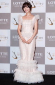 Sun of Wondergirls poses for photographs before her wedding at lotte hotel on January 26 2013 in Seoul South Korea