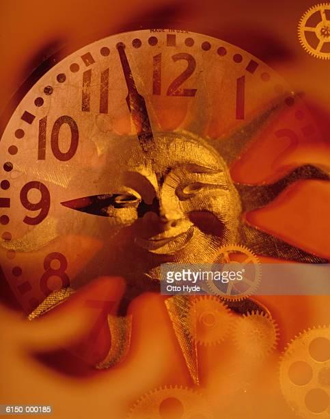 Sun on Clock Face