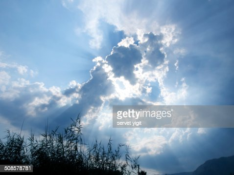 Sun Over Clouds : Stock Photo