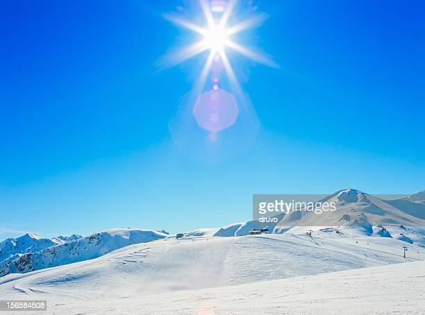 Sun over italiana alpes