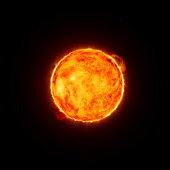 Digital image of the sun.