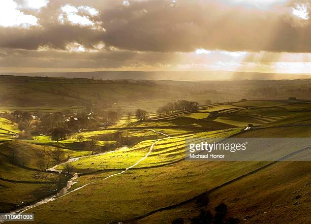 Sun rays over Malham