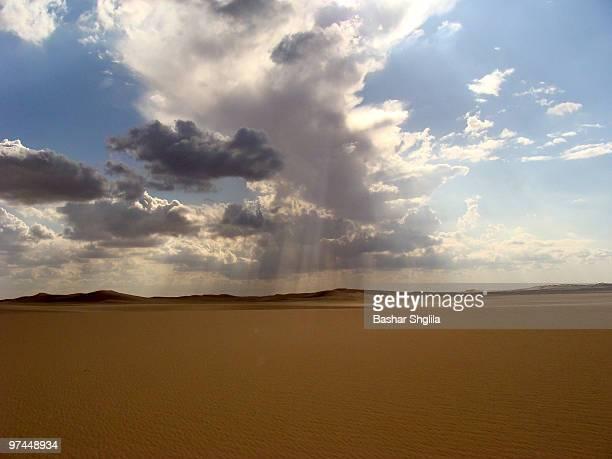 Sun Rays Over the Desert