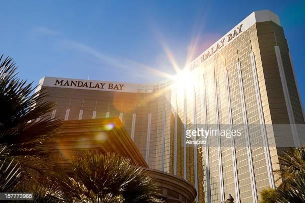 Sun reflecting of the Mandalay Bay tower in Las Vegas