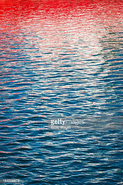 Sun reflections in the ocean