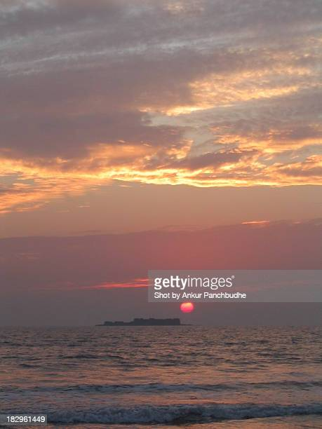 Sun setting on Murud beach