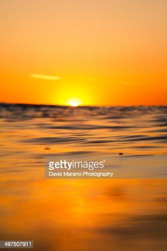 Sun Setting on Ocean