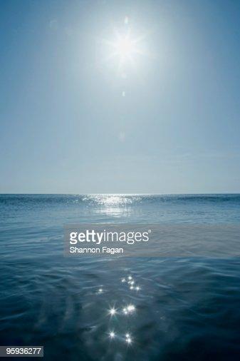 Sun shining over the Atlantic Ocean : Stock Photo