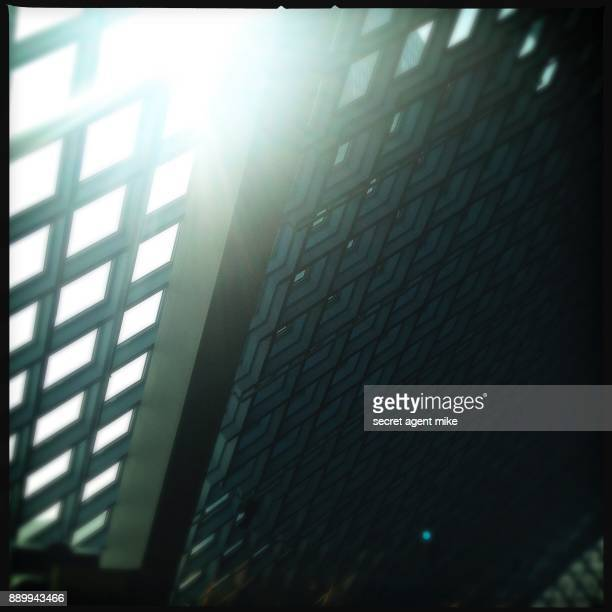 sun shining through glass roof